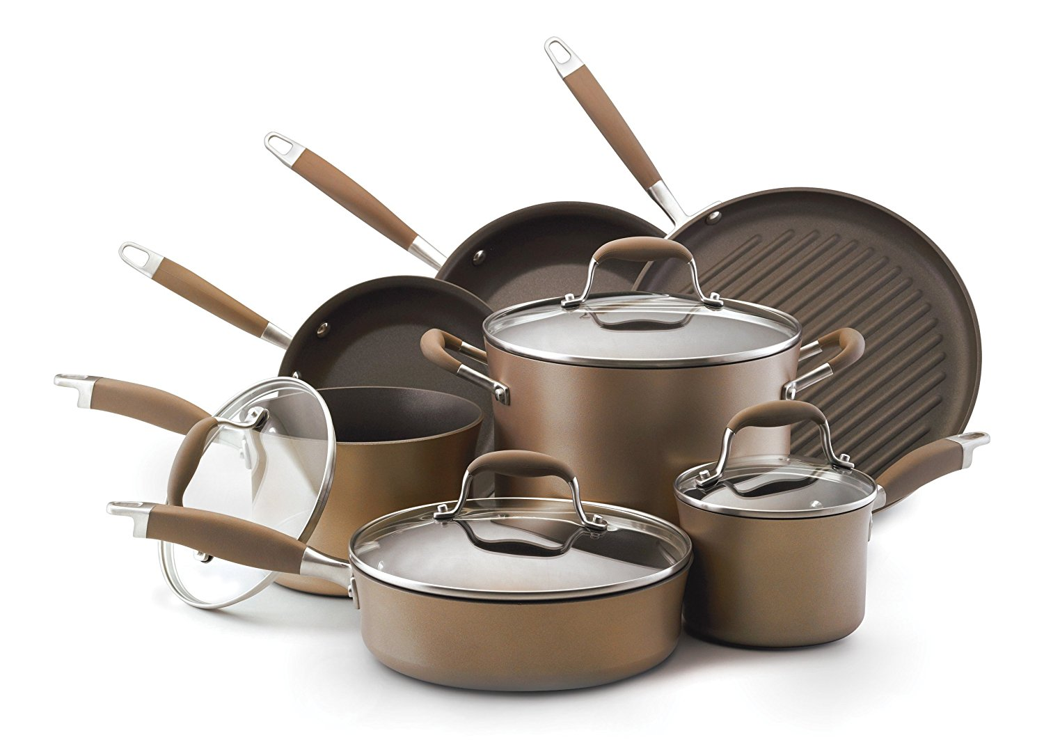 Anolon Advanced Bronze Hard Anodized Nonstick 11-Piece Cookware Set