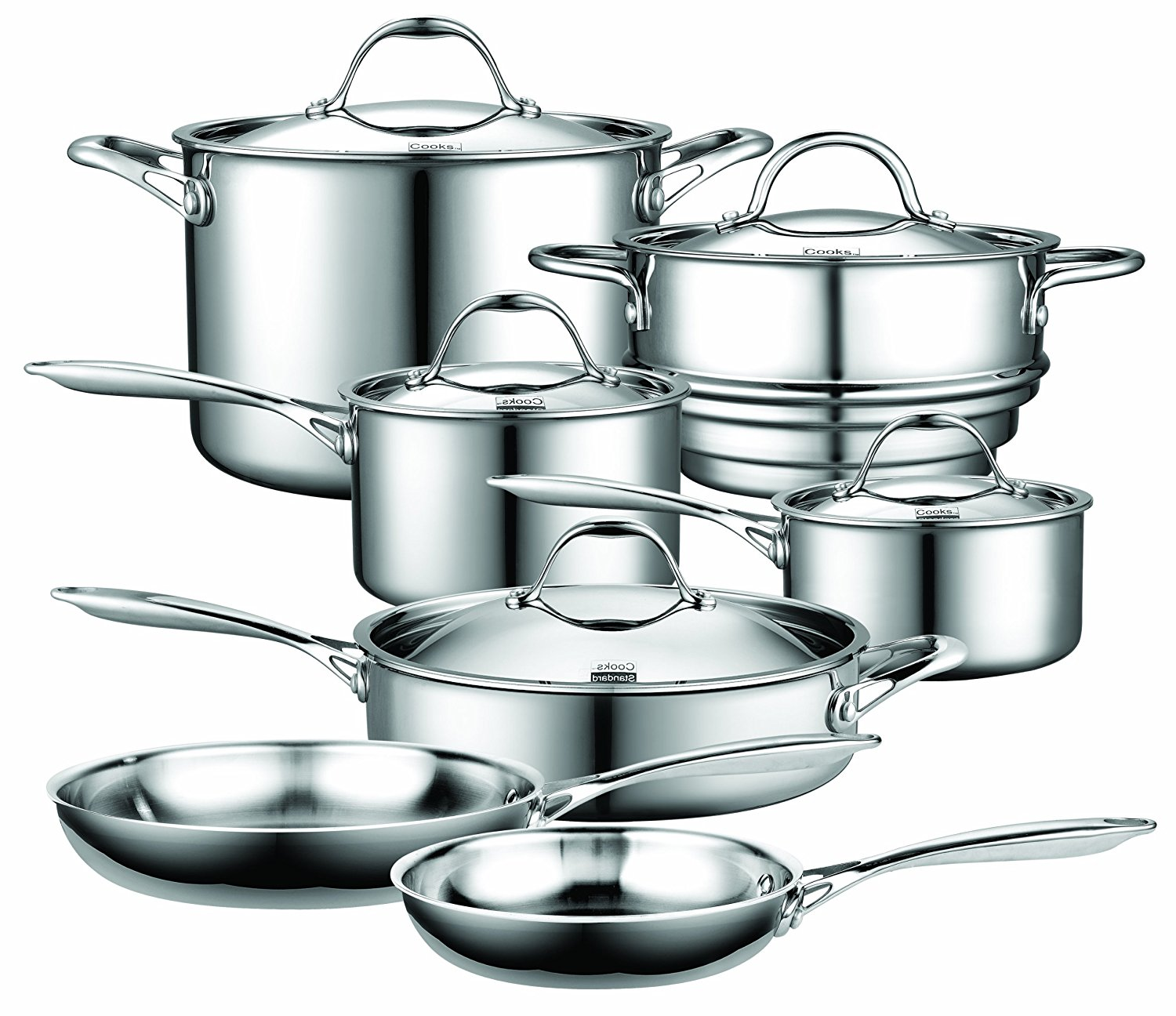 Cooks Standard 10 Piece Multi-Ply Clad Cookware Set