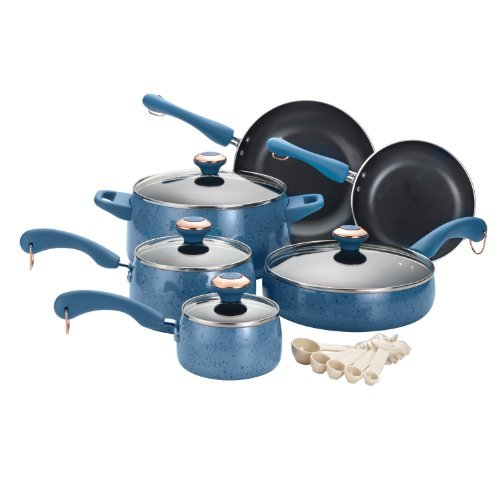 Paula Deen Signature Nonstick 15-Piece Porcelain Cookware Set