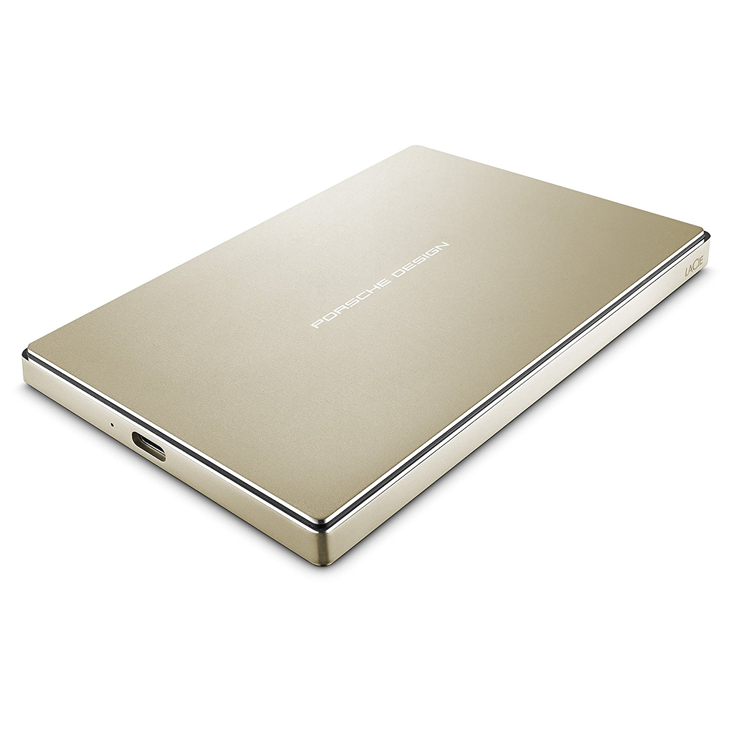 LaCie Porsche Design 2TB USB-C Mobile Hard Drive, Gold