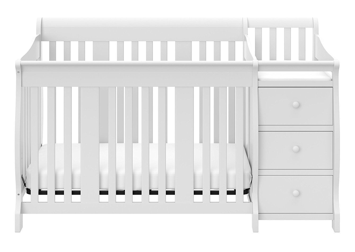 Stork Craft Portofino 4-in-1 Fixed Side Convertible Crib