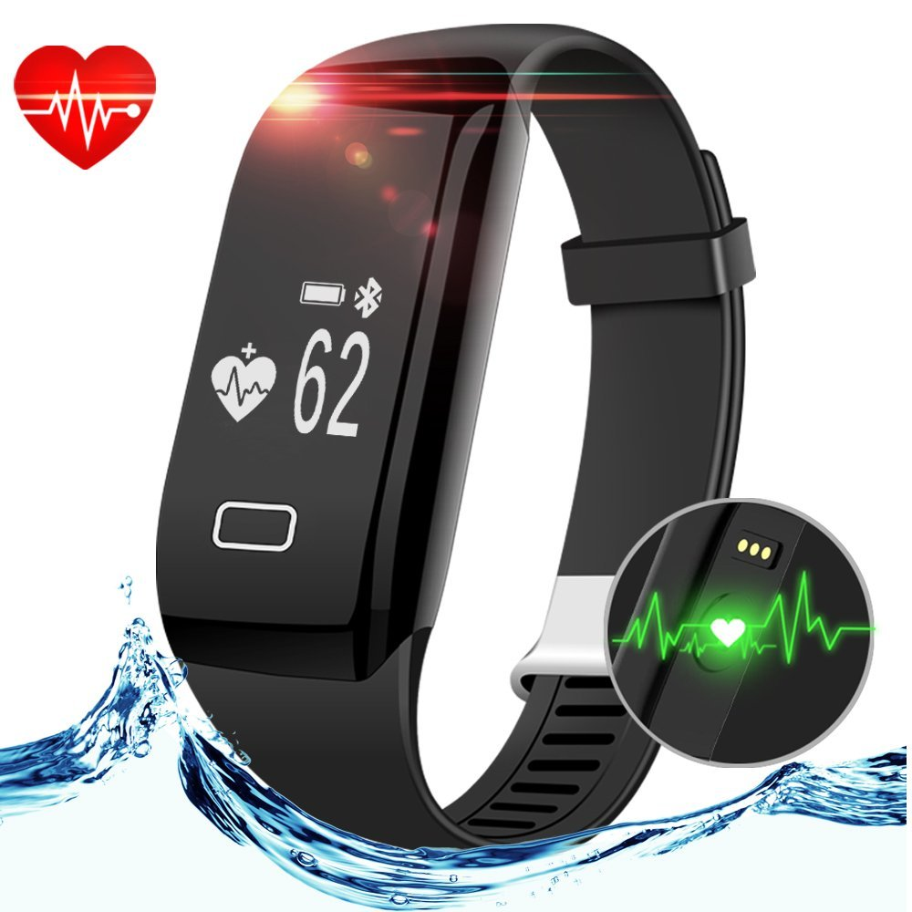 Smart Fitness Tracker, Anmier Heart Rate Fitness Watch Step Track & Sleep Monitor Activity Tracker