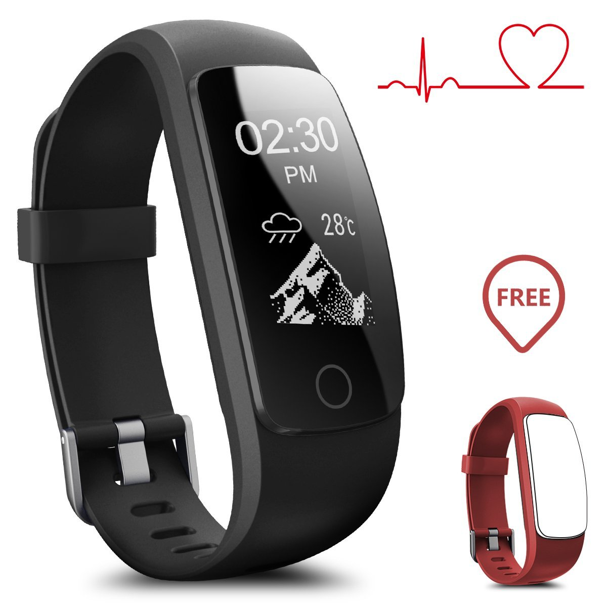 Fitness Tracker, Coffea H7-HR Activity Tracker