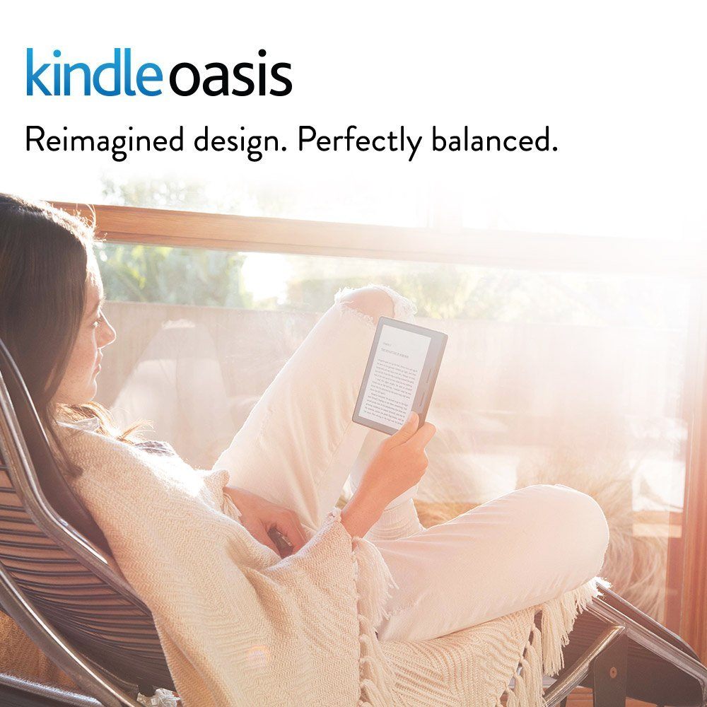 Kindle Oasis E-reader with Leather Charging Cover