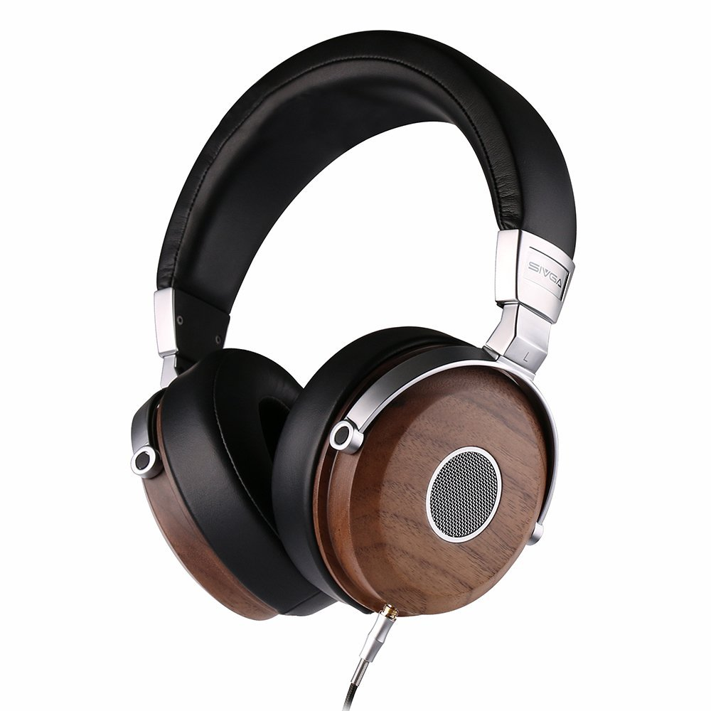 SIVGA Wood Open Back Wired Over Ear Stereo Headphones