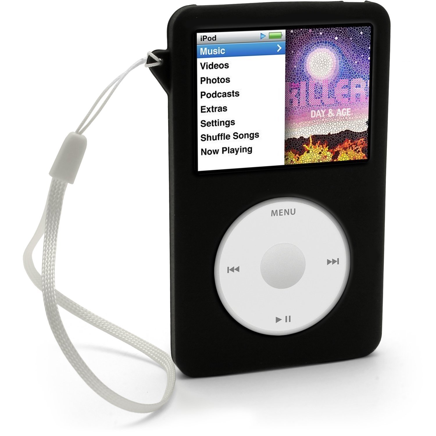 iGadgitz Black Silicone Skin Case Cover for Apple iPod Classic