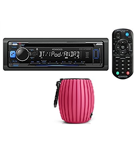 Kenwood KDC-MP368BT Car Single DIN In-Dash CD MP3 Stereo Receiver USB AUX Inputs Buit-in Bluetooth Dual Phone Connection