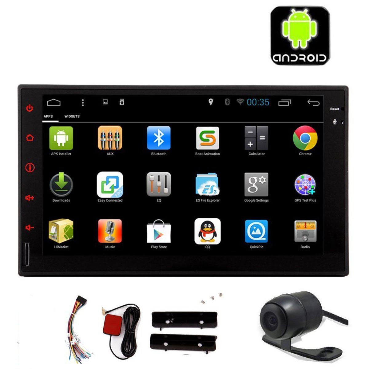 EinCar Android 4.4 system Autoradio HD Capacitive Touch Screen Car GPS DVD Player 7inch 2 Din Car Stereo In Dash Car Radio with Bluetooth