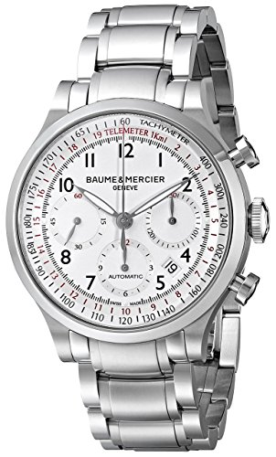 Baume & Mercier Men's BMMOA10061 Capeland Analog Display Swiss Automatic Silver Watch