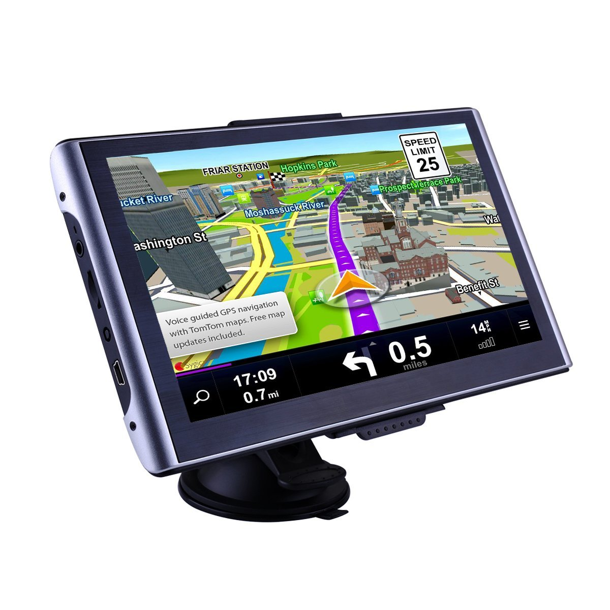 CARMATE GPS Navigator for Truck and Car with Bluetooth 7-Inch Touch Screen