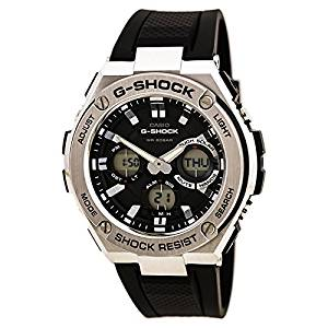 Casio Men's 'G SHOCK' Quartz Stainless Steel and Resin Casual Watch, (Model: GST-S110-1ACR)