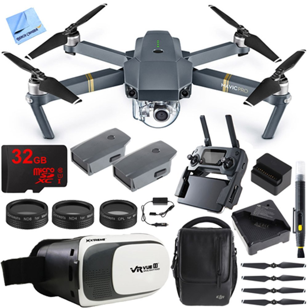DJI Mavic Pro Quadcopter Drone Fly More Combo Pack