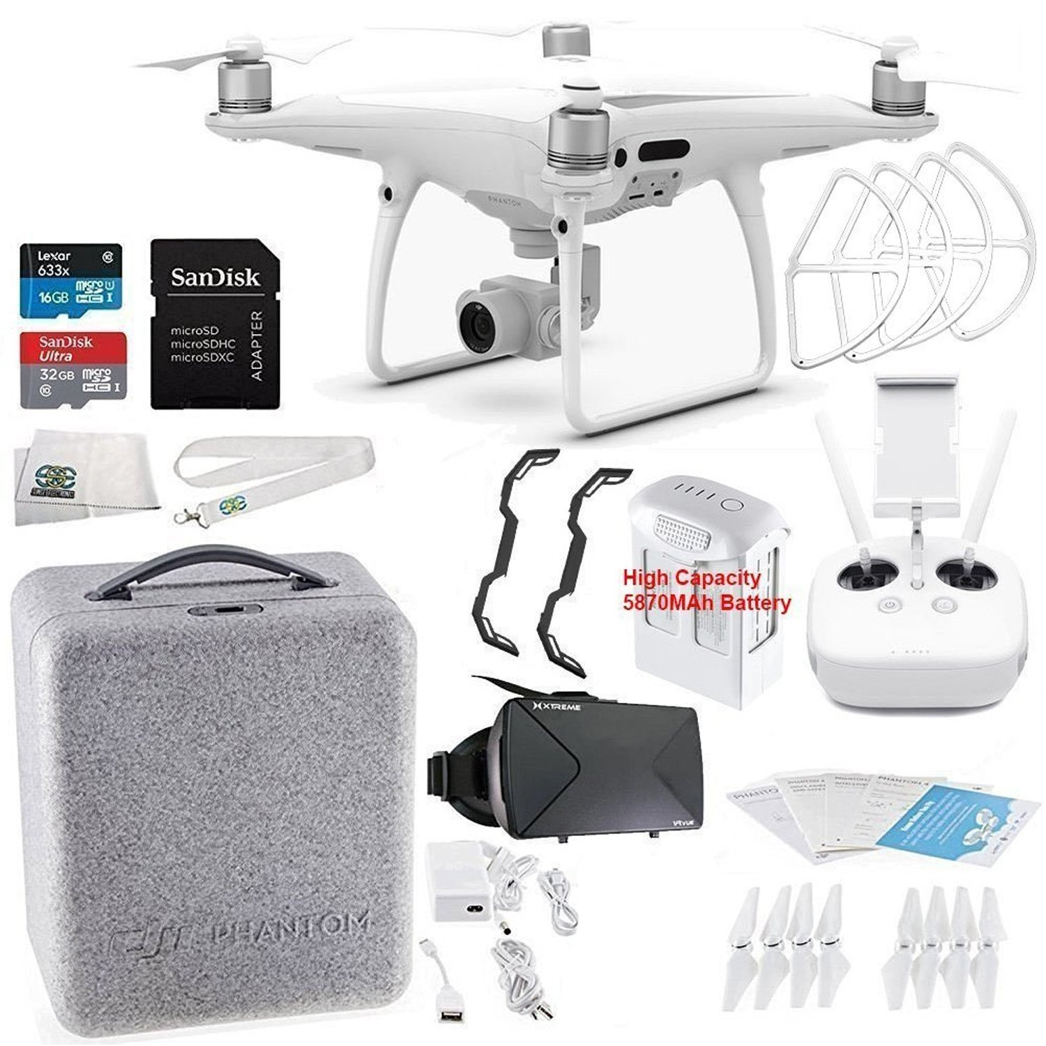DJI Phantom 4 PRO Quadcopter Virtual Reality Experience VR Starters Bundle