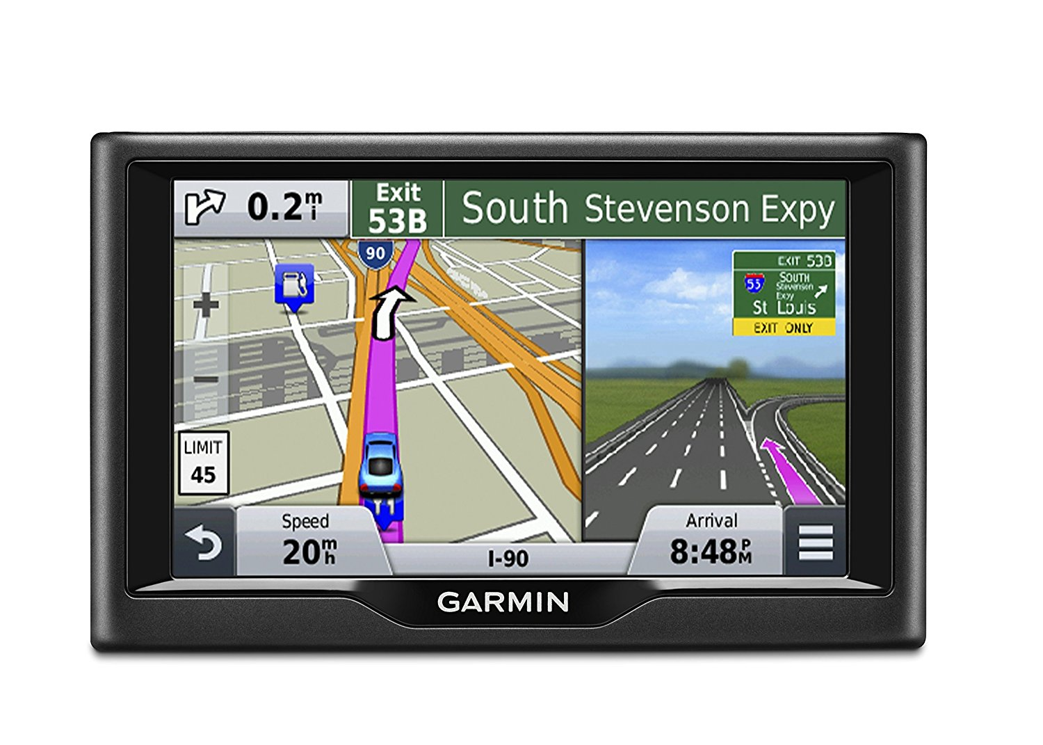 Garmin Nuvi 57LM GPS with Spoken Turn-By-Turn Directions, 5 inch display, Lifetime Map Updates, Direct Access, and Speed Limit Displays