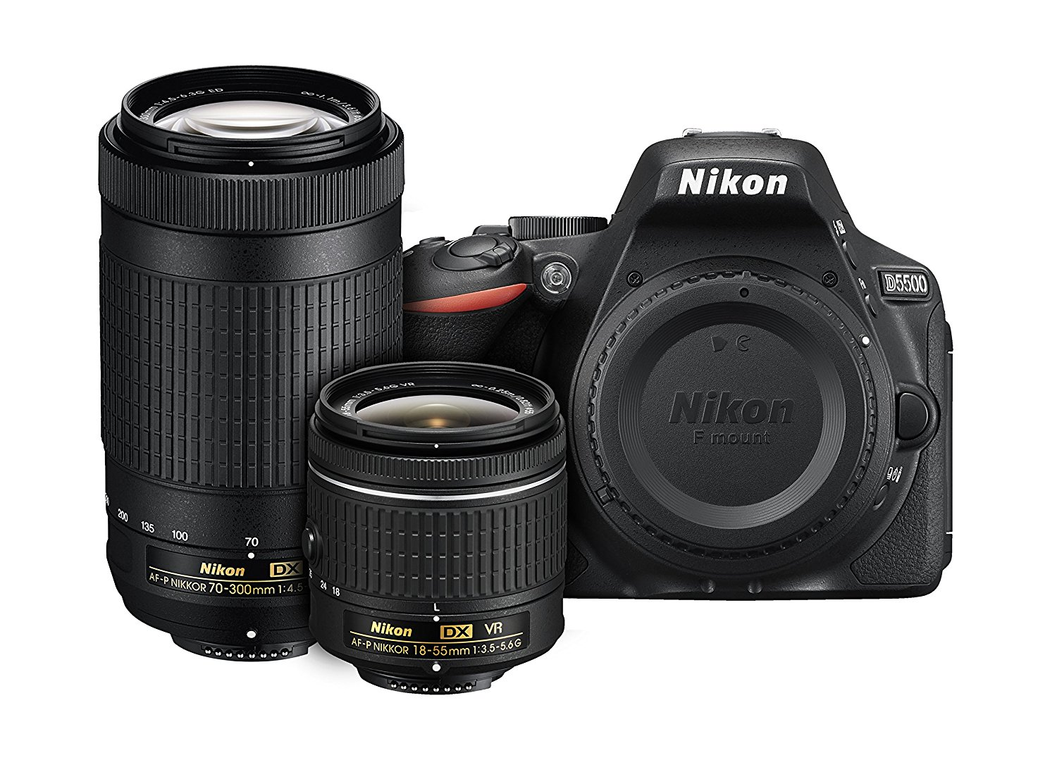 Nikon D5500 DX-format Digital SLR Dual Lens Kit