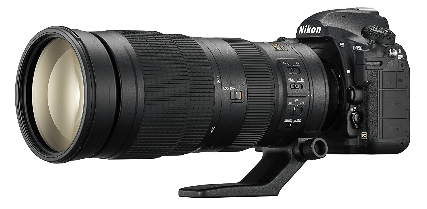 Nikon D850 FX-format Digital SLR Camera Body w/ Nikon AF-S FX NIKKOR 200-500mm f/5.6E ED Vibration Reduction Zoom Lens