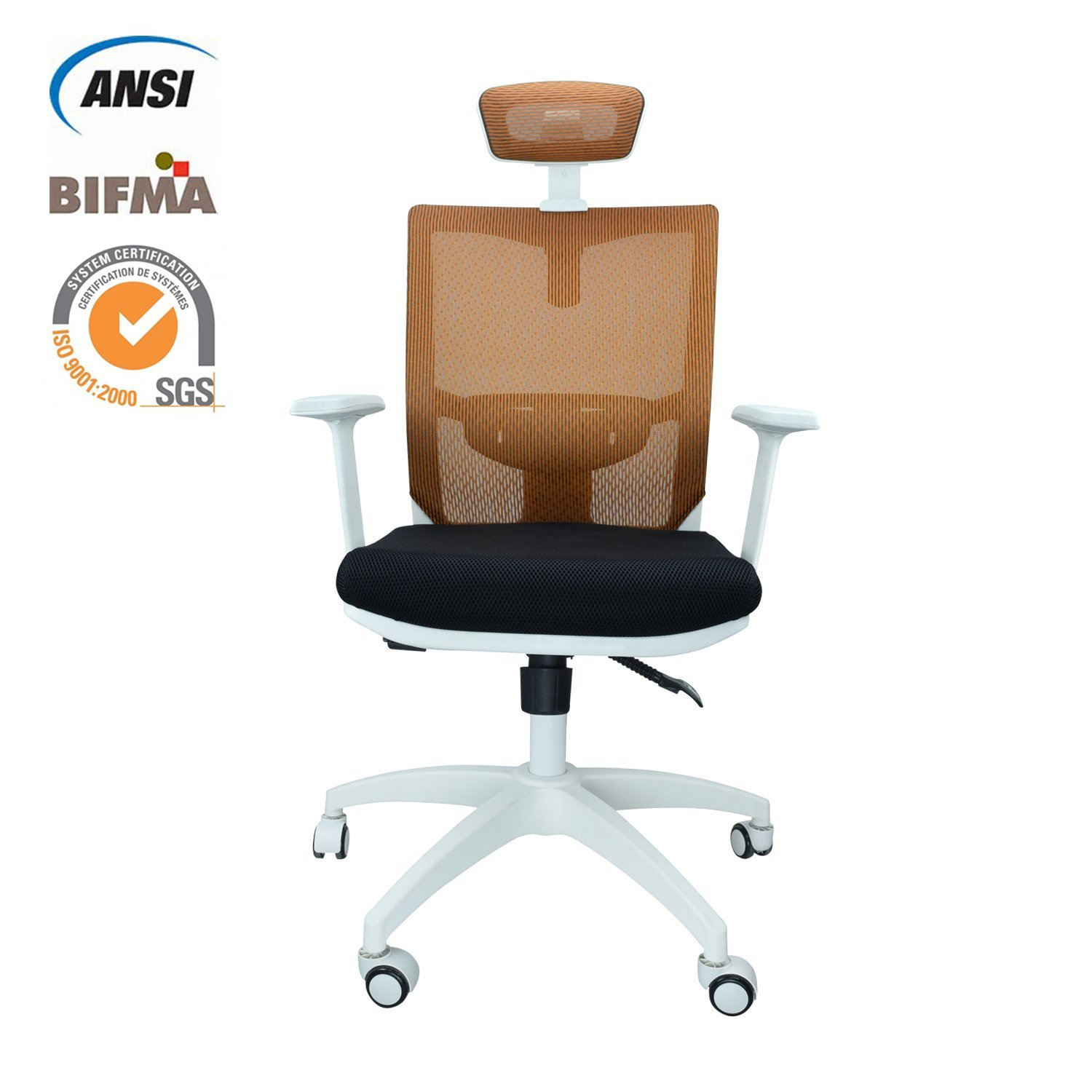 The Arm Rests Provide Good Support To Shoulders Steel And Nylon Casters Make Chair Movement Easier Padded Comfort Of Pu Fabric Makes An