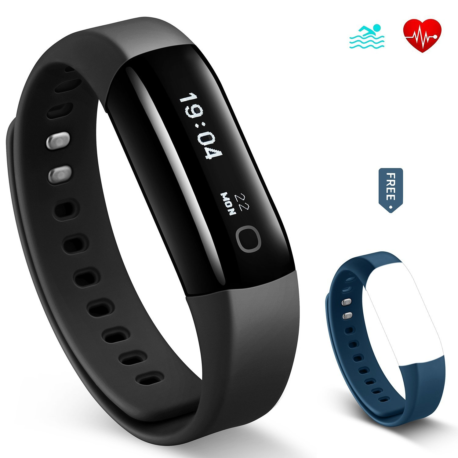 Fitness Activity Tracker, YuanGuo Vigorun4 30M Swimming Waterproof Bluetooth Wireless Smart Bracelet