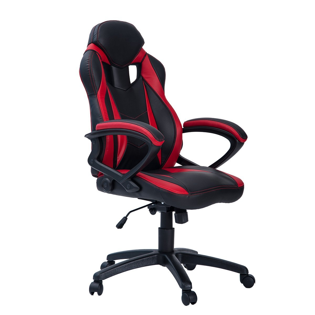 Merax Ergonomic Racing Style PU Leather Gaming Chair for Home and Office (Red & Black)