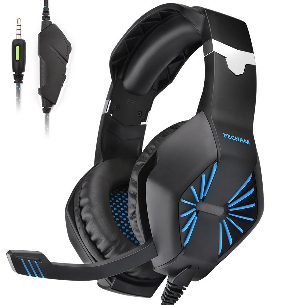 PECHAM Gaming Headset with Mic for New Xbox One, PS4,Nintendo Switch, PC