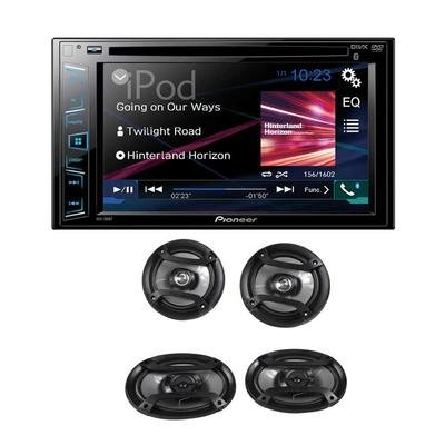 "Pioneer AXT-2969BT DVD Receiver with 6.2″ Display and Bluetooth, (2) 6.5″ 2-Way Speakers and (2) 6″ x 9 "" 3-Way Speakers"
