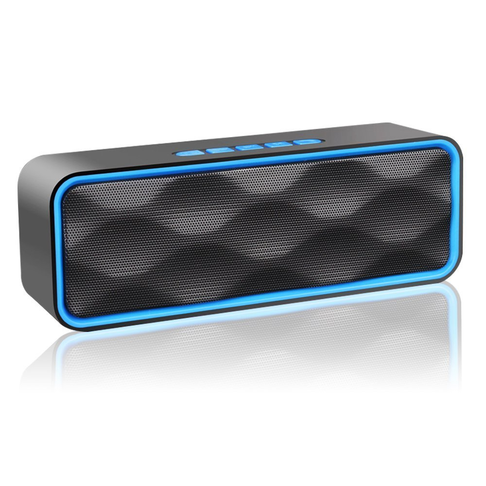 Wireless Bluetooth Speaker, ZOEE S1 Outdoor Portable Stereo Speaker with HD Audio and Enhanced Bass
